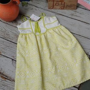 Babydoll Dress NWT LIME/CREAM